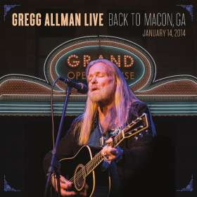 Gregg Allman: Gregg Allman Live: Back To Macon, GA, 14.1.2014  (Limited Edition) (2CD + DVD), 2 CDs