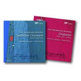 Felix Mendelssohn Bartholdy (1809-1847): Das Geistliche Chorwerk & die Oratorien, 14 CDs
