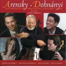 Anton Arensky (1861-1906): Streichquartett Nr.2 op.35, CD