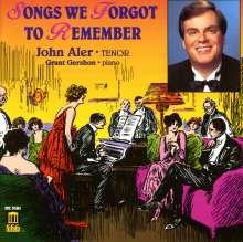 John Aler - Songs we forgot to remember, CD