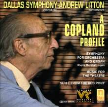 Aaron Copland (1900-1990): Symphonie für Orgel & Orchester, CD