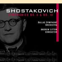 Dimitri Schostakowitsch (1906-1975): Symphonien Nr.6 & 10, 2 CDs