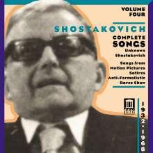 Dimitri Schostakowitsch (1906-1975): Sämtliche Lieder Vol.4, CD