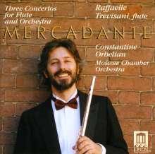 Saverio Mercadante (1795-1870): Flötenkonzerte D-dur, E-dur, e-moll, CD