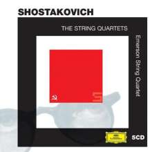 Dmitri Schostakowitsch (1906-1975): Streichquartette Nr.1-15, 5 CDs