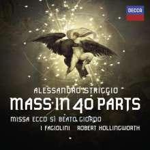 """Alessandro Striggio (1573-1630): Missa """"Ecco si Beato Giorno"""" (Messe zu 40 Stimmen), CD"""