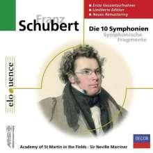 Franz Schubert (1797-1828): Die 10 Symphonien, 5 CDs