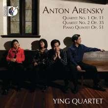 Anton Arensky (1861-1906): Streichquartette Nr.1 & 2, CD