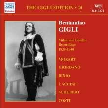Benjamino Gigli- Edition Vol.10, CD