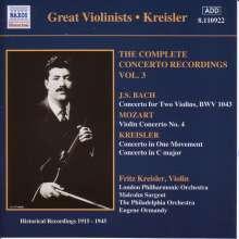 Fritz Kreisler - Complete Concerto Recordings Vol.3, CD