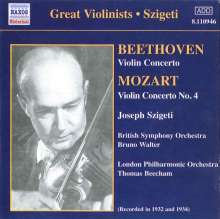 Joseph Szigeti spielt Violinkonzerte, CD