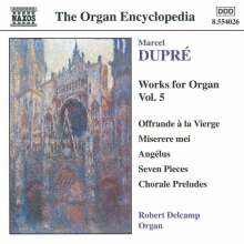Marcel Dupre (1886-1971): Orgelwerke Vol.5, CD