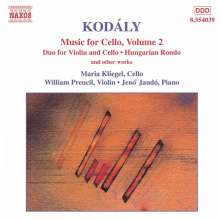 Zoltan Kodaly (1882-1967): Duo f.Cello & Violine op.7, CD