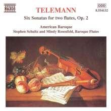 Georg Philipp Telemann (1681-1767): 6 Sonaten für 2 Flöten, CD