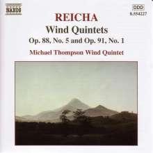 Anton Reicha (1770-1836): Bläserquintette op.88,5 & op.91,1, CD