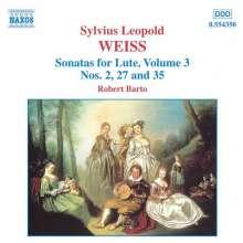 Silvius Leopold Weiss (1687-1750): Lautensonaten Vol.3, CD