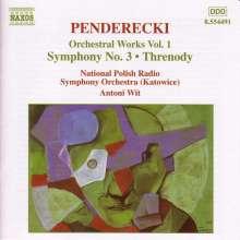 Krzysztof Penderecki (geb. 1933): Symphonie Nr.3, CD
