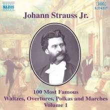 Johann Strauss II (1825-1899): Die 100 schönsten Walzer,Polkas,Ouvertüren & Märsche Vol.1, CD