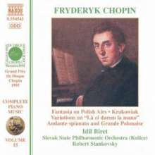 Frederic Chopin (1810-1849): Werke f.Klavier & Orchester, CD
