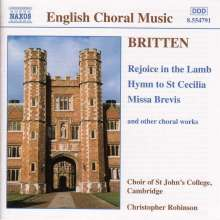 Benjamin Britten (1913-1976): Missa brevis, CD