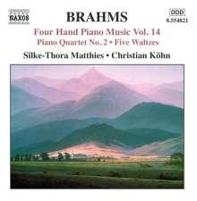 Johannes Brahms (1833-1897): Klaviermusik zu 4 Händen Vol.14, CD