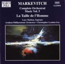 Igor Markevitch (1912-1983): Orchesterwerke Vol.5, CD