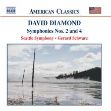 David Diamond (geb. 1915): Symphonien Nr.2 & 4, CD