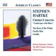 """Stephen Hartke (geb. 1952): Klarinettenkonzert """"Landscapes with Blues"""", CD"""