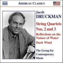 Jacob Druckman (1928-1996): Streichquartette Nr.2 & 3, CD
