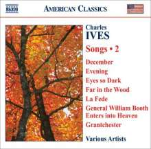 Charles Ives (1874-1954): Lieder Vol.2, CD