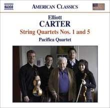 Elliott Carter (1908-2012): Streichquartette Nr.1 & 5, CD