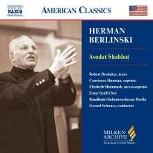 Herman Berlinski (geb. 1910): Avodat Shabbat, CD