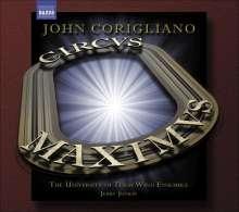 "John Corigliano (geb. 1938): Symphonie Nr.3 ""Circus Maximus"" für großes Bläserensemble, CD"