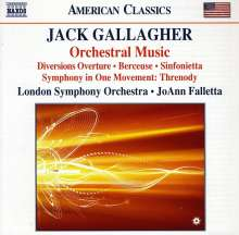 Jack Gallagher (geb. 1947): Orchesterwerke, CD