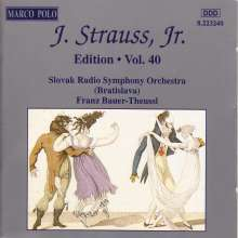 Johann Strauss II (1825-1899): Johann Strauss Edition Vol.40, CD