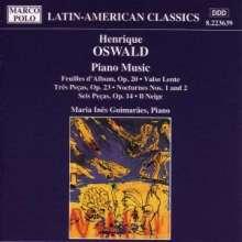 Henrique Oswald (1852-1931): Klavierwerke, CD