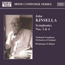 John Kinsella (geb. 1932): Symphonien Nr.3 & 4, CD