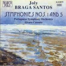 Joly Braga Santos (1924-1988): Symphonien Nr.1 & 5, CD
