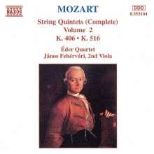 Wolfgang Amadeus Mozart (1756-1791): Streichquintette Nr.2 & 4, CD