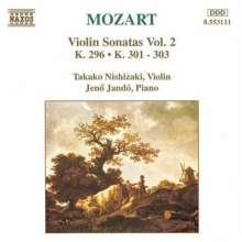 Wolfgang Amadeus Mozart (1756-1791): Sonaten für Violine & Klavier Vol.2, CD