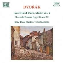 Antonin Dvorak (1841-1904): Klavierwerke zu 4 Händen Vol.2, CD