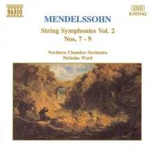 Felix Mendelssohn Bartholdy (1809-1847): Streichersymphonien Nr.7-9, CD