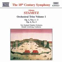 Jan Vaclav bzw. Johann Wenzel Stamitz (1717-1757): Orchestertrios Vol.1, CD
