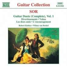 Fernando Sor (1778-1839): Duette f.2 Gitarren Vol.1, CD