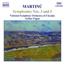 Bohuslav Martinu (1890-1959): Symphonien Nr.3 & 5, CD