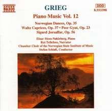 Edvard Grieg (1843-1907): Klavierwerke Vol.12, CD
