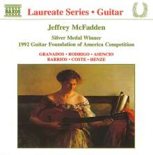 Jeffrey McFadden - Guitar Recital, CD