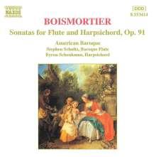Joseph Bodin de Boismortier (1689-1755): Sonaten für Flöte & Bc.op.91 Nr.1-6, CD