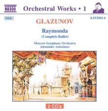 Alexander Glasunow (1865-1936): Raymonda op.57 (Ballettmusik), 2 CDs