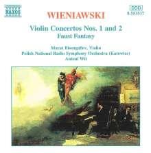 Henri Wieniawski (1835-1880): Violinkonzerte Nr.1 & 2, CD
